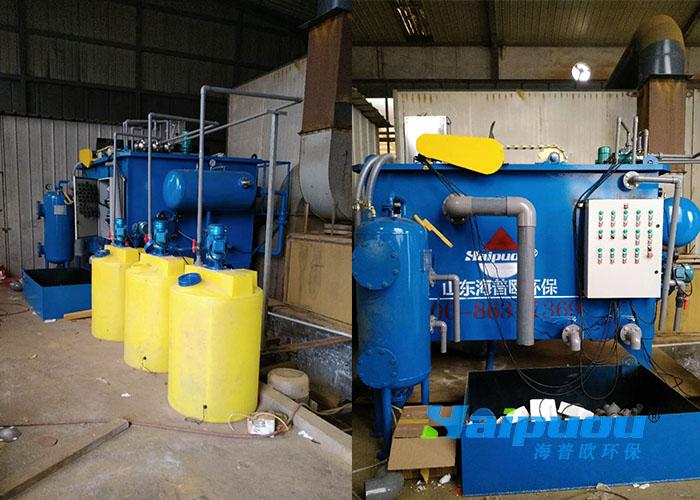 临沂喷漆污水处理设备安装现场