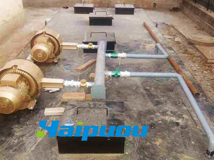 天津凉皮厂污水处理设备安装现场