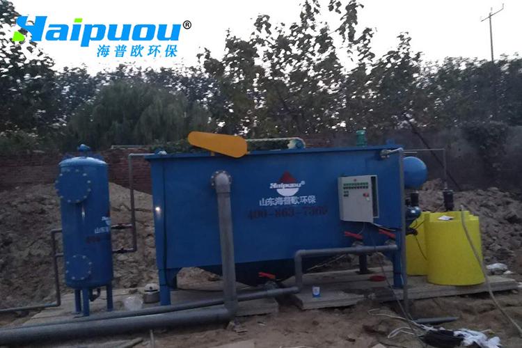 寿光清洗颗粒污水处理安装现场
