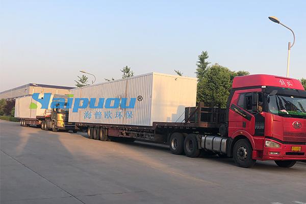 北京集装箱式生活污水处理设备发货